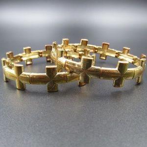 Jewelry - Vintage Rustic Religious Cross Expandable Bracelet